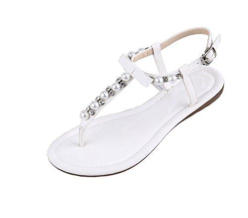 Lemontree Sandalias de Vestir Planas Para Mujer 12 Blanco