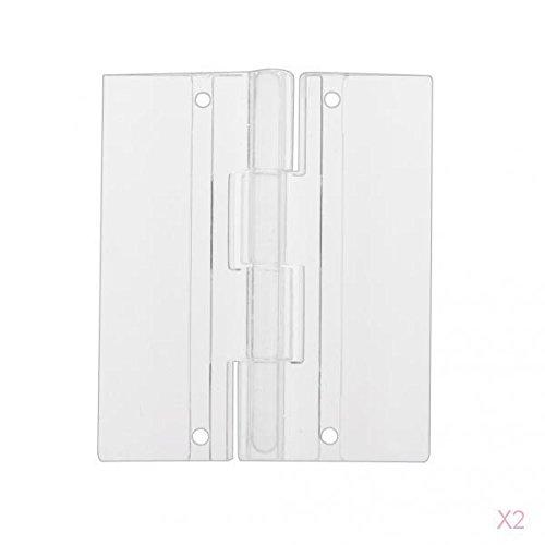 PETSOLA 20pcs 45x38mm De Pl/ástico Acr/ílico Transparente Bisagras Puerta Plegable De Piano
