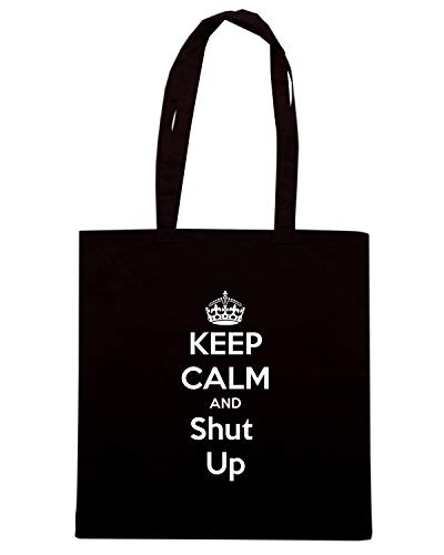 KEEP Shopper Borsa Speed SHUT AND Shirt TKC0450 Nera UP CALM TEqTXwC