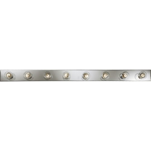 Progress Lighting P3118-15 Basic Broadway Lighting Strips That Use Fewer Lamps on 7-1/2 Inch Centers and UL Listed For Ceiling Mounting with 25 Watt Lamps, Polished Chrome