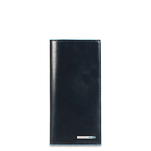 Piquadro Travel Document Holder with Credit Card Slots, Dark Blue, One Size by Piquadro