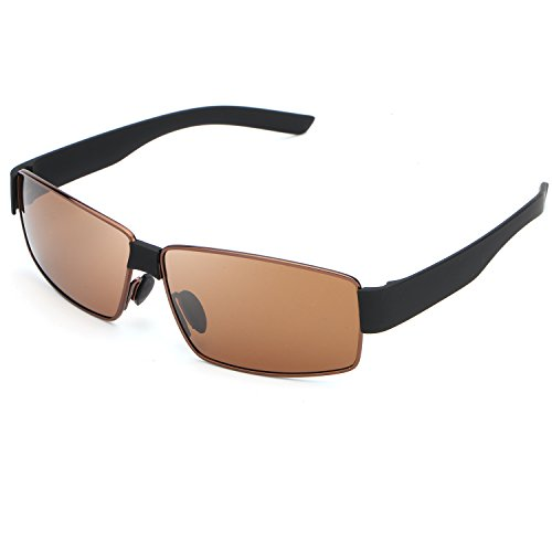 HDCRAFTER Metal Frame Polarized Driving Sunglasses Mens for Outdoor Sports