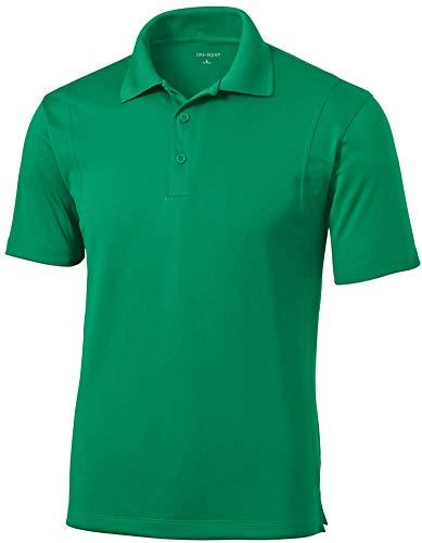 DRI-Equip Mens Moisture Wicking Micropique Golf Polo-Kelly Green-XL