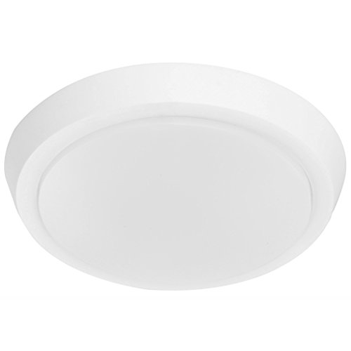 GetInLight 9 Inch Flush Mount LED Ceiling Light with ETL Listed, Soft White 3000K, Matte White Finish, IN-0302-3-WH