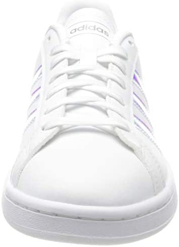 31S2IzIkwmL. AC adidas Women's Grand Court Sneaker    A '70s style reborn. These women's shoes take inspiration from iconic sport styles of the past and move them into the future. The shoes are made of a durable leather-like upper with signature 3-Stripes along the sides. Plush midsole cushioning gives comfort to every step.