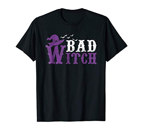(Matching Set Funny Good Bad Witch Costume Shirt)