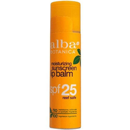 Alba Botanica Lip Care SPF 25 Sunscreen, 0.15 oz.
