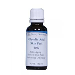 (1 oz / 30 ml) GLYCOLIC Acid 50% Skin Chemical Peel - Unbuffered - Alpha Hydroxy (AHA) For Acne, Oily Skin, Wrinkles, Blackheads, Large Pores & More (from Skin Beauty Solutions) made by Skin Beauty Solutions