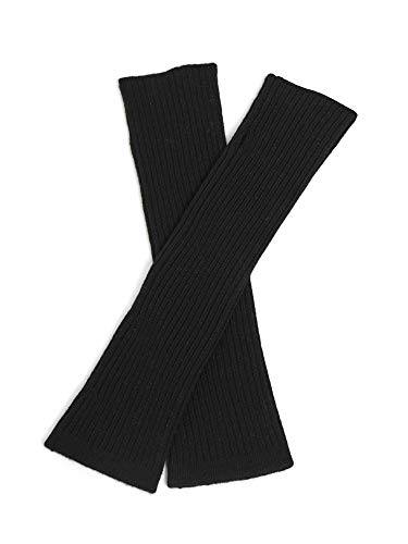 (Cashmeren Women's 100% Cashmere Knit Long Fingerless Arm Warmers Mitten Gloves 13