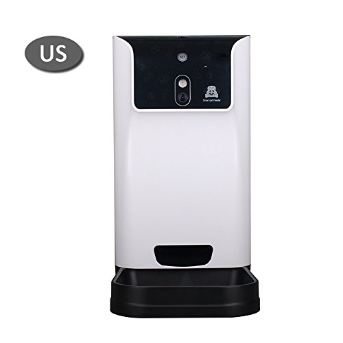 Awhao Automatic Pet SmartFeeder,Pet Feeder Food Dispenser for Cats and Dogs with HD Wifi Camera Controlled by IPhone, Android or Other Smart Devices by Awhao
