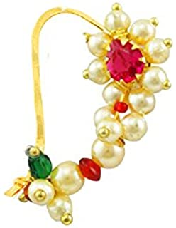 3b66ca5f33756 Buy V. K. Jewels Nose Ring for Women (Gold)(vknr1002g) Online at Low ...