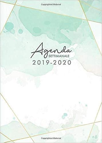 Agenda settimanale 2019 2020: Agenda taccuino settimanale ...