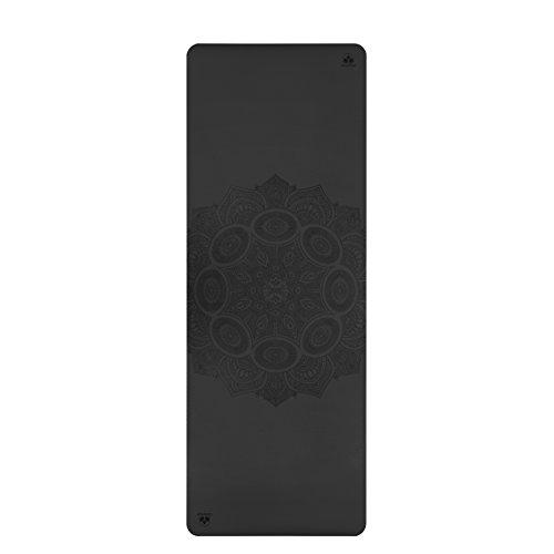 Clever Yoga Premium LiquidBalance Mat Eco and Body Friendly Sweat Grip Non-Slip with Carrying Yoga Bag (Mandala-Gray)