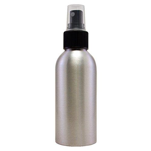 4 fl oz Aluminum Bottle with Black Fine Mist Spray Cap (6 Pack)
