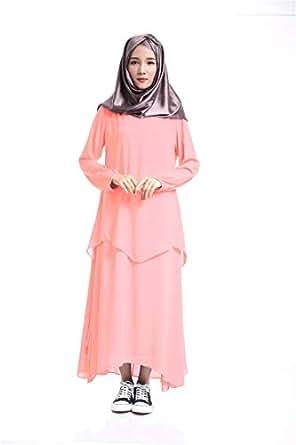 Pink Chiffon Casual Dress For Women