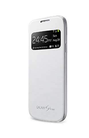 meet 7d864 1b90b S-View Flip Cover for Samsung Galaxy S4 Mini (White)