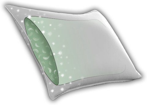 Continental Bedding Sandwich-S.1 Pillow Double Down Surround-As Seen in Many 5 Star Hotels and Resorts. (Standard)
