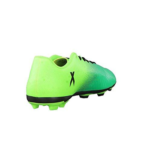 Adidas x 16.4FXG J–Chaussures montantes de fútbolpara enfants, vert–(Versol/negbas/verbas), 30