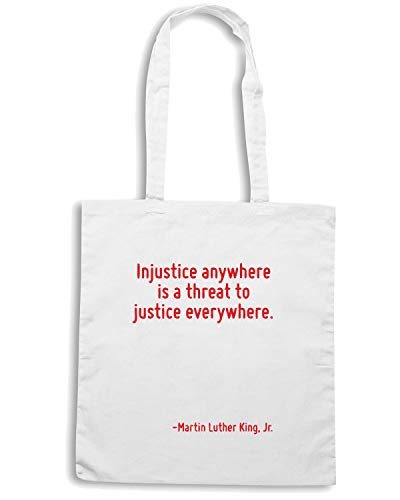 Borsa Speed JUSTICE THREAT TO IS A CIT0127 INJUSTICE ANYWHERE Bianca EVERYWHERE Shopper Shirt AqwOxqSf