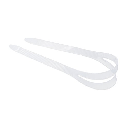 Dovewill Silicone Mask Strap Replacement for SCUBA Diving Snorkeling Freediving - Clear, (Clear Silicone Mask Strap)