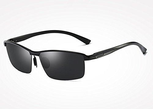 de Sol Azul Gafas Piazza Aluminio Classic Sunglasses Gafas Bastidor Hombres de Gris UV400 Gafas black TL magnesio de Gafas gray polarizadas Guide x0Fqg7w