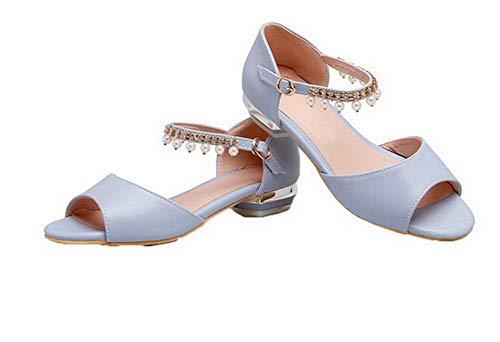 Women Aalardom Dress Blu Tsmlh008130 Pu Mini con Sandals Heel fibbia Solid 6xPCwxdq