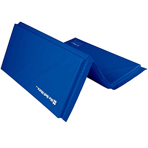 We Sell Mats Gymnastics Mat, Folding Tumbling Mat for Exercise, Yoga, Martial Arts, Portable with Hook & Loop Fasteners, Multiple Colors and Sizes