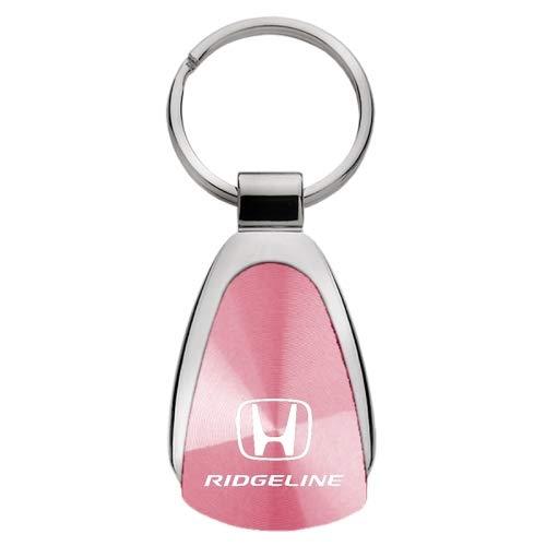 Honda Ridgeline Pink Tear Drop Metal Key Ring