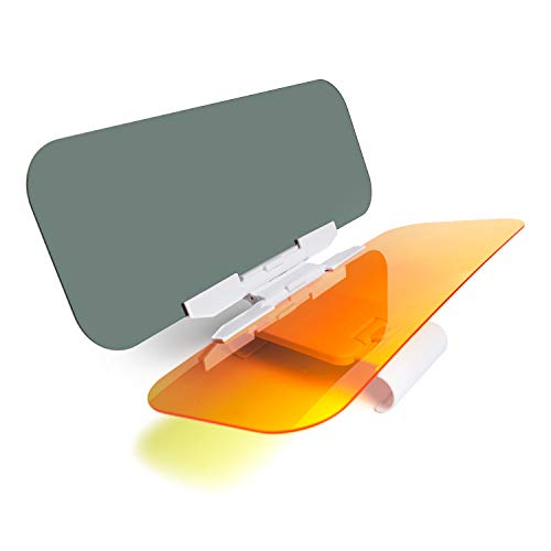 DIFINES Car Sun Visor for Day and Night, Anti-Glare Car Visor Extender, 2 in 1 Automobile Sun Visor Universal Windshield Driving Visor