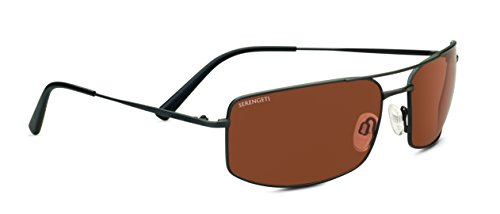 Serengeti Classic Metal Treviso Satin Dark Gunmetal Drivers Sunglasses ()