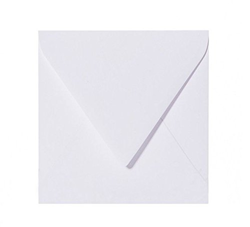 50 buste quadrate, 125 x 125 mm, colore: Bianco Briefumschläge24Plus