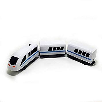 Magnetic Electric Train HighSpeed Rail Compatible with Thomas Train Tracks and All Kinds of Wooden Train Tracks a