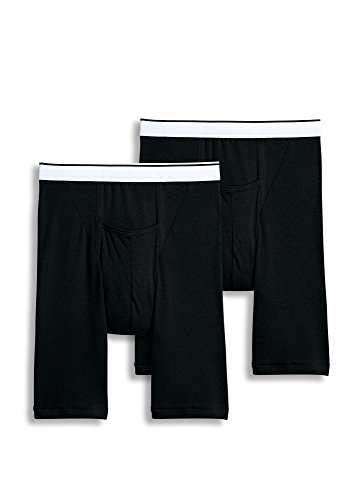 Jockey Men's Underwear Big Man Pouch Midway Brief - 2 Pack, black, 3XL (Jockey Pouch)