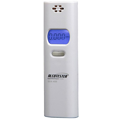 OBEST Professional Breathalyzer Portable Digital Breath Alcohol Tester Decetor with LCD Display (Battery Energy Drink compare prices)