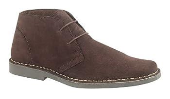 Mens M420 Dark Brown Suede New Mens Desert Boots Shoes