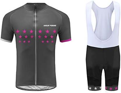 Uglyfrog Conjunto Ropa Equipacion Traje Ciclismo Hombre para Verano, Maillot Ciclismo Hombre+Culotte Ciclismo Culote Bicicleta DXMX05: Amazon.es: Deportes y aire libre