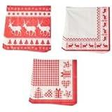 1 pack of Red & White Christmas Paper Napkins by gisela graham