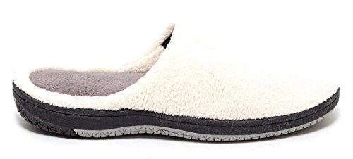Damen Wellness Soft Hausschuhe Gr. 38-40 Pantoletten Pantoffeln Puschen Slipper Komfort Schuhe Bequemschuhe feste Sohle BEIGE CREME