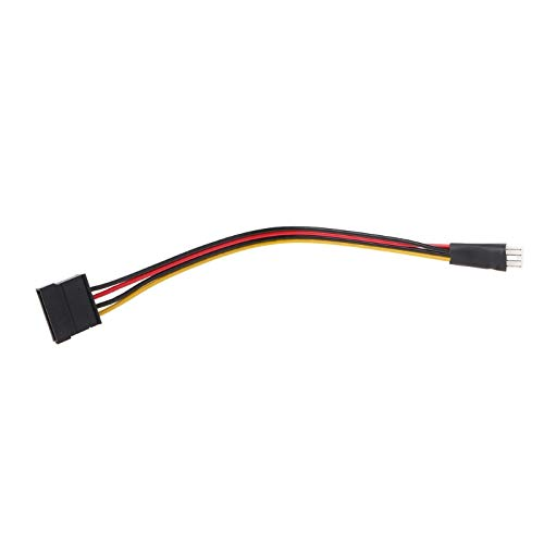 Computer Cables 4-Pin FDD Floppy Male to 15-Pin SATA Female Converter Adapter Power Cable Cord - (Cable Length: Other)