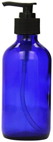Cobalt Glass Lotion Dispenser Black