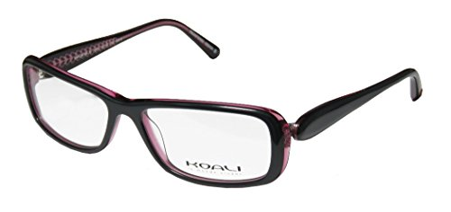 Koali 7182k Womens/Ladies Designer Full-rim Eyeglasses/Eyewear (54-15-130, Greenish Gray / Transparent Magenta) - Koali Eyewear