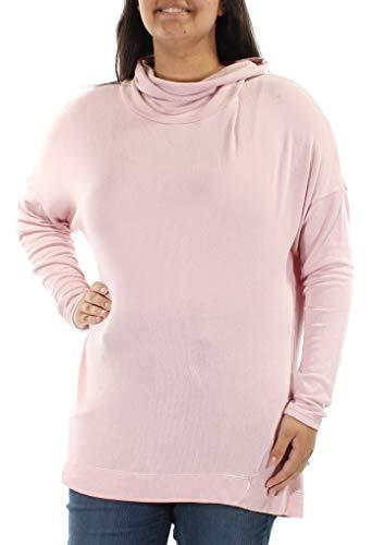 (Lauren Ralph Lauren Lilia Ponte Ribbed Pullover Turtleneck Sweater Pink M NEW)