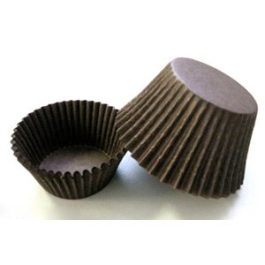 Novacart Brown Baking Cup - 1-1/2'' Bottom x 1'' High, 1 Case by Novacart