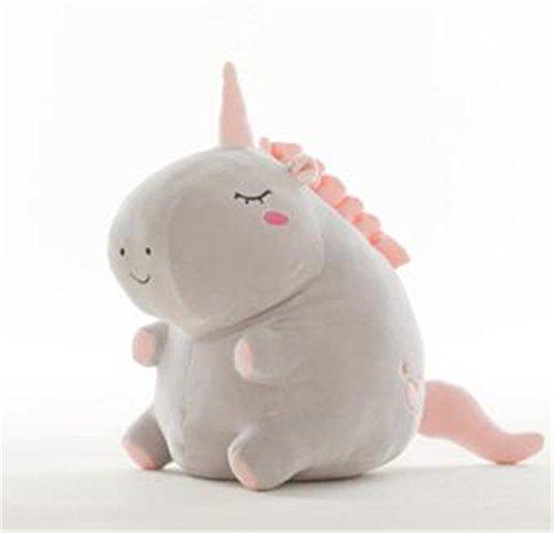 Tmrow 1pc Adorable Unicorn Stuffed Animal Plush Toy,Gray,38cm by Tmrow