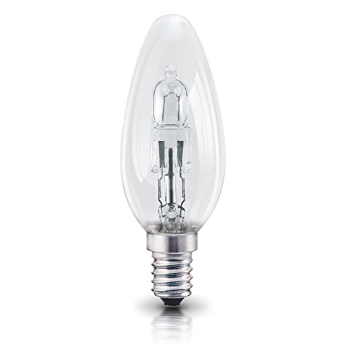 CANDLE SES E14 Halogen Energy Saving Light Bulbs =40W Dimmable Lamps Mains 240V 405 Lumen 4 x OSRAM Classic Eco Superstar 30W Small Edison Screw Cap