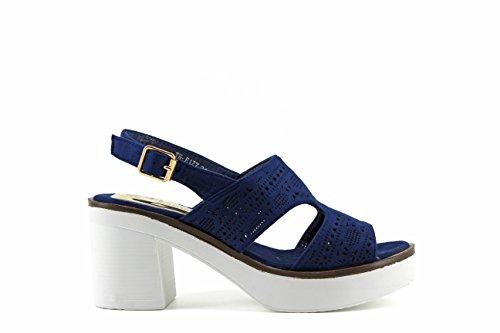 Modelisa - Sandalia Tacon Hebilla Mujer Azul