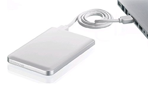 Freecom Mobile Drive Mg 1TB USB 3.0/FW800 Portable External Hard Drive with Magnesium Enclosure for MacBook, Silver 97712