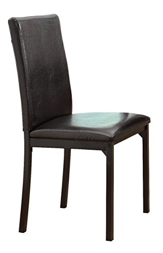 Homelegance 2601S Bi-Cast Vinyl Upholstered Dining Chair, Dark Brown, Set of (Cast Seat Side Chair)