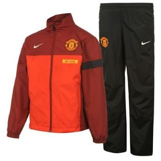 1e38c550a Nike Sideline Boys  Tracksuit Woven Manchester United Kit challenge  red team red black