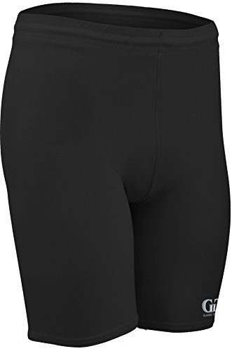 "NL118 Unisex 8"" Athletic Form Fitting Compression Knee Length Short (Medium, Black)"